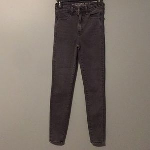 American Eagle super high rise jeans size 00